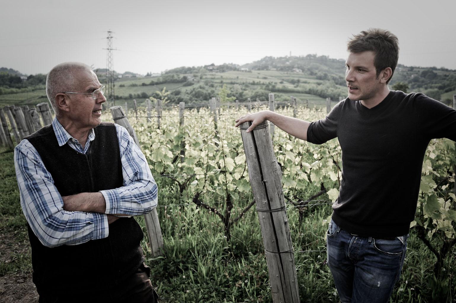 Luca Fullin con Josko Gravner
