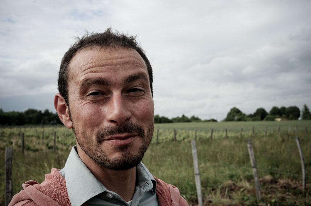Renaud Guettier tra i vigneti di Chenin a Bueil en Touraine