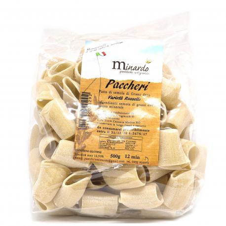 Pasta di Semola di grano duro Russello Paccheri 500 gr