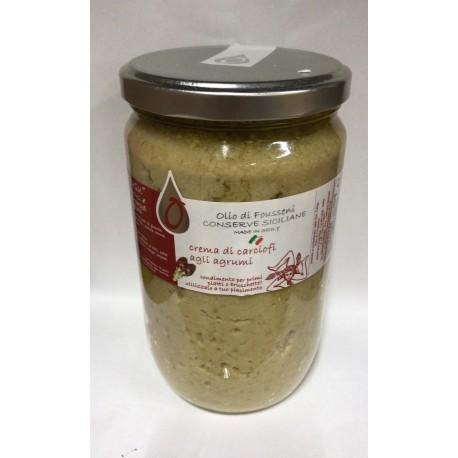Crema di carciofi agli agrumi 720 ml - Fousseni
