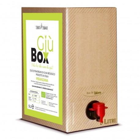 """Olio Extravergine Peranzana Bio """"Giubox"""" 5L - T. Demaio"""